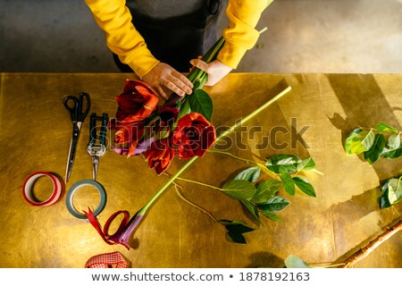 High angle view of unrecognizable woman holding gift Stock photo © pressmaster