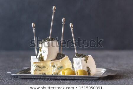 белый синий плесень сыра черный икра Сток-фото © Alex9500