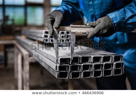Pracowników metal warsztaty człowiek kobieta przemysłu Zdjęcia stock © Kzenon