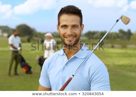 гольфист портрет улыбаясь мужчины черный рубашку Сток-фото © lichtmeister