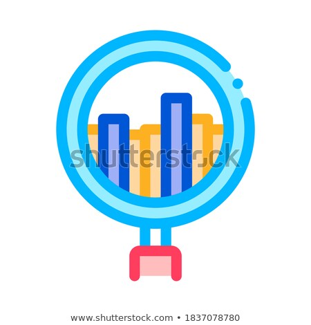 Graph In Magnifier Glass Agile Element Vector Icon Stock photo © pikepicture