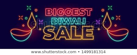 big indian diwali festival sale banner in neon style Stock photo © SArts