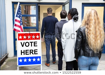 People Standing Outside Voting Room Stock photo © AndreyPopov