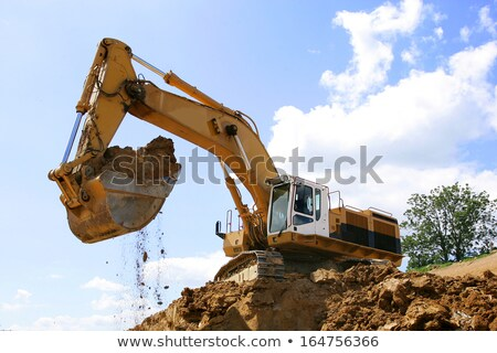 Bulldozer pelle machines bâtiment construction industrie Photo stock © robuart