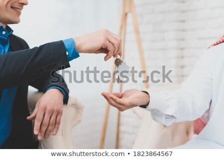 férfi · adósság · vásárlás · lány · pár · bank - stock fotó © elnur