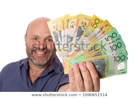 Holding Australian Money Stock photo © visualdestination