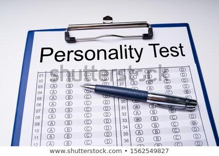 性格 テスト シート ペン クリップボード 表 ストックフォト © AndreyPopov