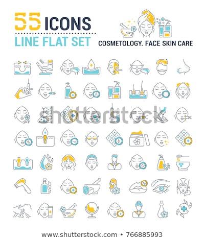 Cara injeção ícone vetor ilustração Foto stock © pikepicture
