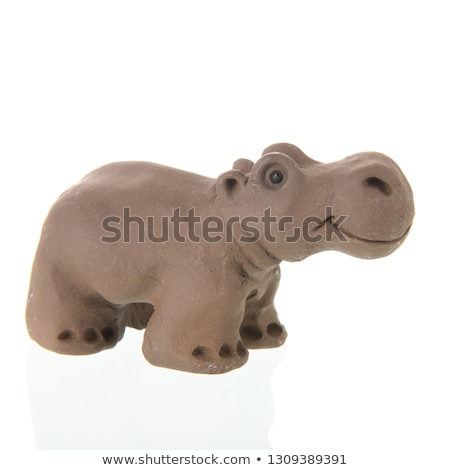 Funny clay Hippo Stock photo © ivonnewierink