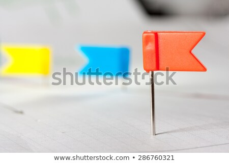 Pins on sketched red arrow points Stock photo © nomadsoul1