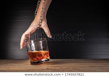 стороны заблокированный стекла алкоголя знак прав Сток-фото © nomadsoul1