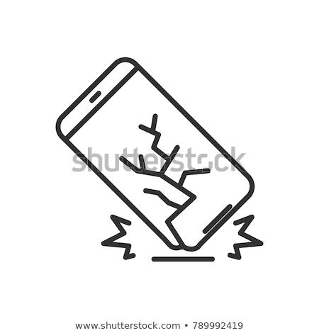 Törött telefon ikon vektor skicc illusztráció Stock fotó © pikepicture