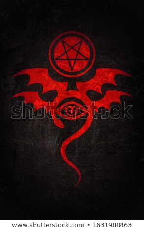 EVIL EYE (The Greatest Malefic). The Diabolic bloody eerie damn. Evil in its pure form.  Stock photo © Glasaigh