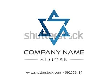 Star kalkan mühürlemek geleneksel İbranice imzalamak Stok fotoğraf © Glasaigh