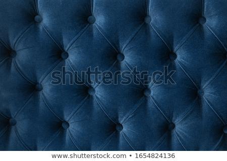 Kék luxus kanapé kárpit gombok elegáns Stock fotó © Anneleven