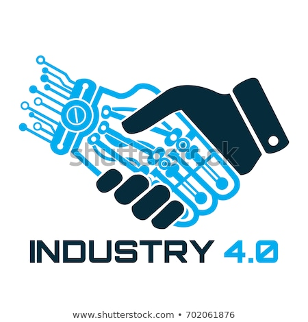 Cyber Hand Artificial Intelligence Vector Icon Stock photo © pikepicture