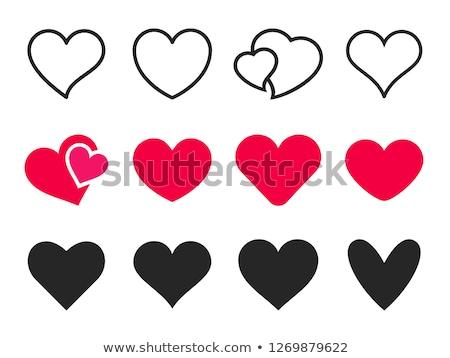Grunge rouge vecteur coeur icône amour Photo stock © blumer1979