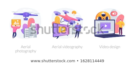 Drone Flying with camera Stock photo © ShustrikS
