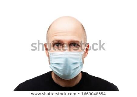 лысые голову человека дыхательный Сток-фото © ia_64