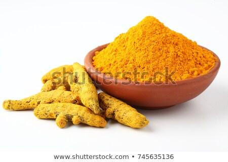 Turmeric powder and curcuma root Stock photo © furmanphoto