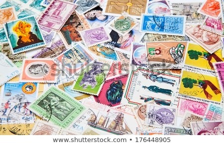 Old stamp collection from Italy Stock photo © cienpies