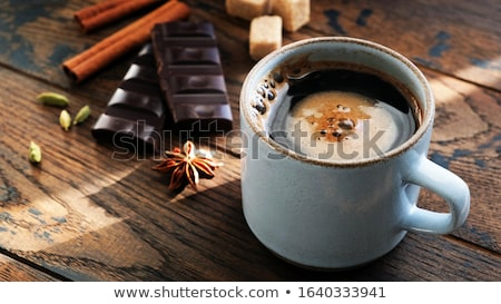 Brown sugar and spices cardamom and anise Stock photo © dariazu
