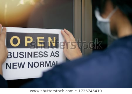 We are back. Reopening businesses concept. Stock photo © olivier_le_moal
