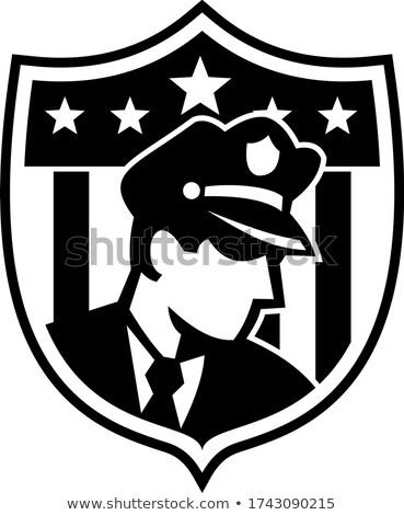 Regarder côté badge crête Photo stock © patrimonio