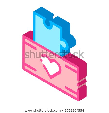 Volunteers Support Game Box isometric icon vector illustration Stock photo © pikepicture