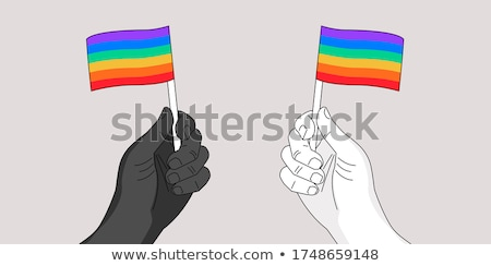 Trots vector metafoor homo gelijkheid lesbische Stockfoto © RAStudio