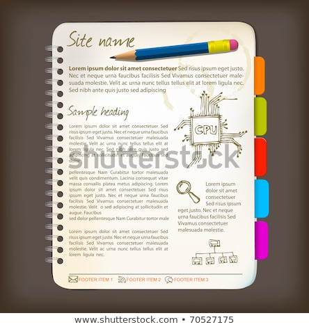 Web site template - Open notepad  Stock photo © orson
