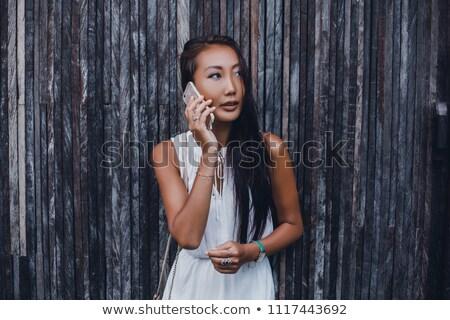肖像 美しい 小さな 女性実業家 見える 画面 ストックフォト © HASLOO