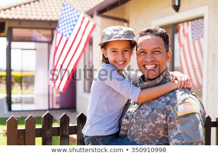 Stock photo: US army girl