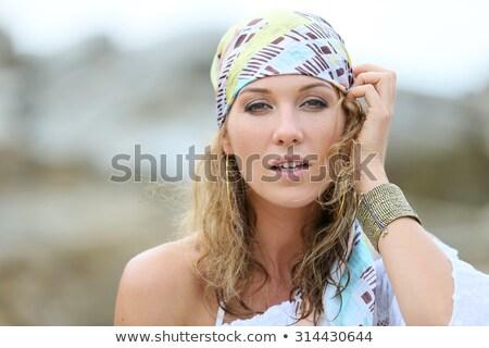 Donna gioielli sorriso moda ritratto Foto d'archivio © aladin66