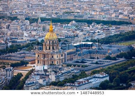 cúpula · igreja · Paris · túmulo · folhas · primeiro · plano - foto stock © Musat