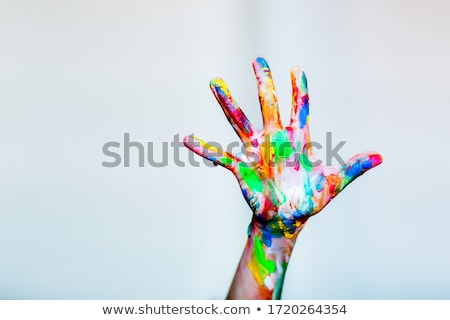 Painted colorful hands  Stock photo © deyangeorgiev