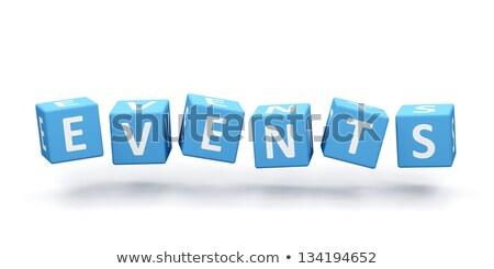 3D divatszó szöveg események színes terv Stock fotó © nasirkhan