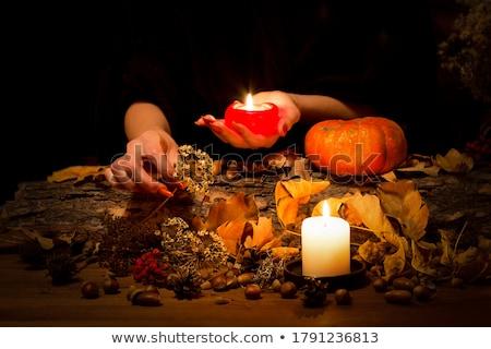 夜景 · 墓地 · 頭蓋骨 · 怖い · デザイン · クロス - ストックフォト © ancello