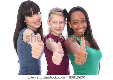 Erfolg Zeichen jugendlich High School Mädchen Stock foto © darrinhenry