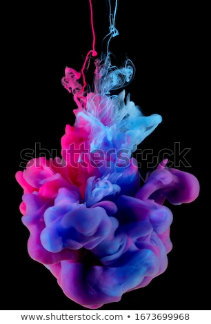 Stock photo: Color pigment cloud