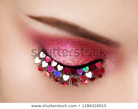 vrouw · penseel · mond · ontwerp · verf · kunst - stockfoto © lightkeeper