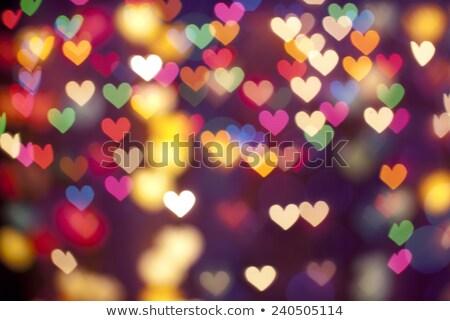 Heart lights (defocused) stock photo © ajfilgud