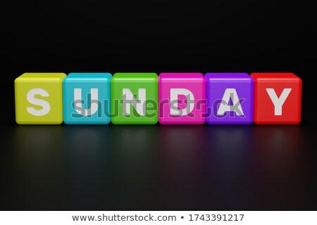 sunday in 3d coloured cubes Stock photo © marinini