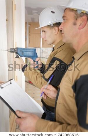 Artesão assistindo feminino aprendiz negócio mulher Foto stock © photography33