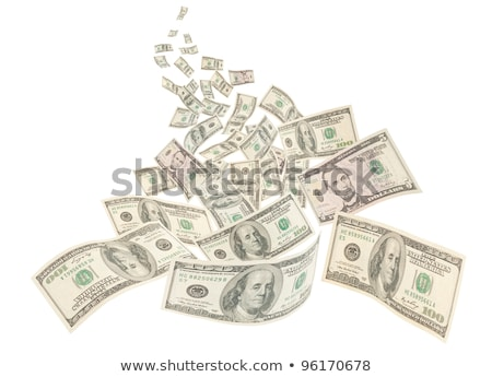 Money river, isolated American hundred notes Stock photo © Ansonstock