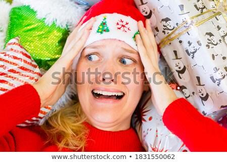 Foto stock: Agotado · mujer · Navidad · compras