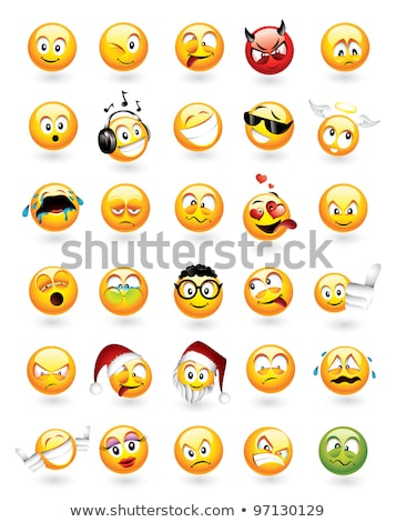 Set of 30 emoticons Stock photo © ThomasAmby