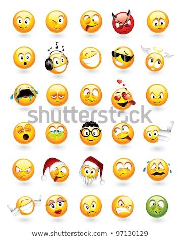 Set of 30 emoticons Stock photo © ThomasAmby