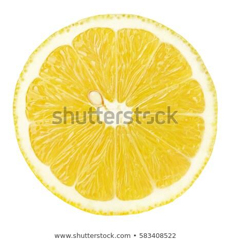 Single cross section of lemon Stock photo © boroda
