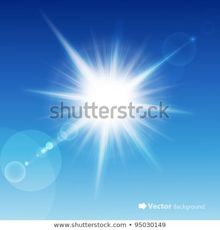 White burst on blue Stock photo © Tawng